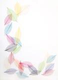 Las hojas enmarcan en colores bonitos Imágenes de archivo libres de regalías