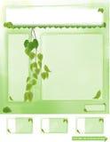 Diseño de la primavera de tarjeta del Web site y de visita Imágenes de archivo libres de regalías