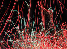 Las huellas de los fuegos artificiales Fotografía de archivo