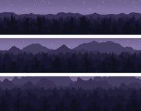 Las i góry ustawiający Zdjęcie Royalty Free
