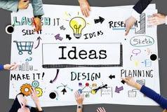 Las ideas crean concepto de diseño de la innovación de la inspiración imagenes de archivo