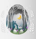 Las ideas creativas del día de Pascua, forma del huevo del marco del papel cortaron con