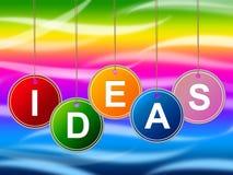 Las ideas embroman el joven e innovaciones de las invenciones de los medios Foto de archivo libre de regalías