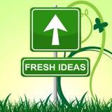 Las ideas frescas indican la exhibición y la invención creativas Fotografía de archivo libre de regalías