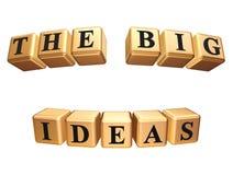 Las ideas grandes aisladas Imágenes de archivo libres de regalías
