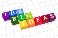 Las ideas grandes en color Imagen de archivo libre de regalías