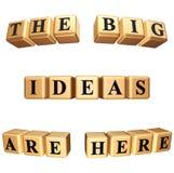 Las ideas grandes están aquí aislante Imágenes de archivo libres de regalías