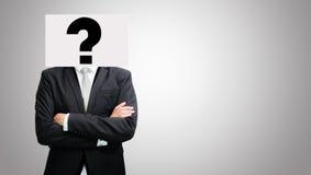 Las ideas permanentes del Libro Blanco del hombre de negocios hacen frente a llevar a cabo el frente del hea imagen de archivo