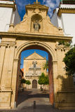 Símbolos católicos en Córdoba Foto de archivo