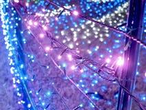Las iluminaciones del invierno sue?an fotografía de archivo