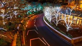 Las iluminaciones se encienden para arriba en Roppongi Hills Fotografía de archivo