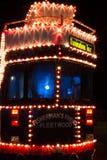 Las iluminaciones viajan a la tranvía en Blackpool, Lancashire, Inglaterra, Reino Unido Foto de archivo libre de regalías