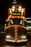 Las iluminaciones viajan a la tranvía en Blackpool, Lancashire, Inglaterra, Reino Unido Imagen de archivo