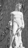 Las ilustraciones en el della Signoria de la plaza en Florencia Imagen de archivo libre de regalías