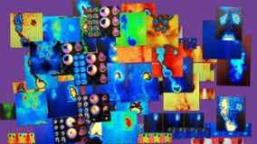 Collage nuclear de la medicina Fotografía de archivo