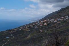 Las Indias en kustlijn, La Palma, Canarische Eilanden, Spanje Royalty-vrije Stock Foto