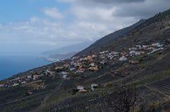 Las Indias en kustlijn, La Palma, Canarische Eilanden, Spanje Royalty-vrije Stock Afbeeldingen