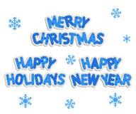 Las inscripciones del Año Nuevo Imagen de archivo libre de regalías