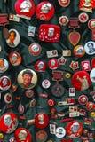 Las insignias de Mao Imágenes de archivo libres de regalías