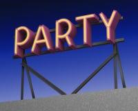 Las instalaciones del tejado con el partido ponen letras a la opinión de la noche representación 3d Imagen de archivo