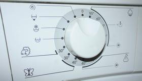 Las instrucciones para la lavadora Foto de archivo libre de regalías