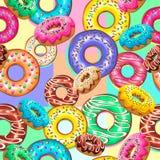 Las invitaciones dulces de los anillos de espuma van de fiesta diseño del vector del modelo de Seamsless ilustración del vector