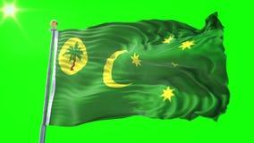 Las islas de Keeling de los Cocos señalan el vídeo de colocación inconsútil de la representación por medio de una bandera 3D El a almacen de video