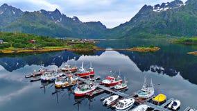 Las islas de Lofoten son un archipiélago en el condado de Nordland, Noruega fotografía de archivo