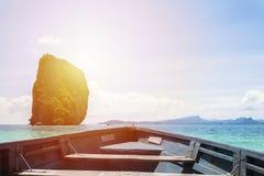 Las islas son grandes de tamaño, cabeza del barco Foto de archivo libre de regalías