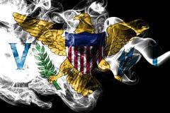 Las Islas Vírgenes fuman la bandera, bandera dependiente del territorio de Estados Unidos fotos de archivo libres de regalías