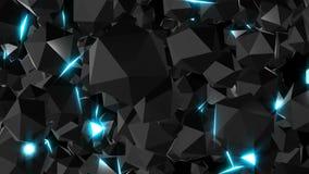 Las joyas superficiales brillantes con las luces, 3d rinden el contexto generado por ordenador libre illustration