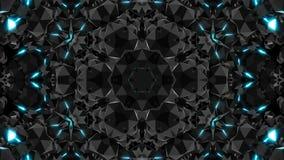 Las joyas superficiales brillantes con las luces, 3d rinden el contexto generado por ordenador ilustración del vector