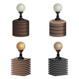 Las lámparas de calle - bolardos Foto de archivo