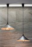 Las lámparas industriales hicieron del metal Foto de archivo libre de regalías