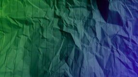 Las líneas arrugadas papel de las rayas se chiban el fondo multi violeta verde de los efectos de los colores de la mezcla de colo imágenes de archivo libres de regalías