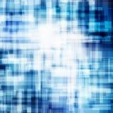 Las líneas azules geométricas del extracto coinciden concepto brillante de la tecnología del fondo del movimiento del negocio de  ilustración del vector