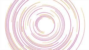 Las líneas circulares brillantes resumen la animación video futurista stock de ilustración