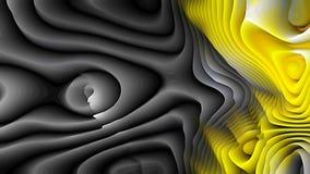 Las líneas curvadas amarillas frescas del extracto 3d ondulan textura stock de ilustración