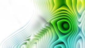Las líneas curvadas azules y verdes ondulan el fondo ilustración del vector
