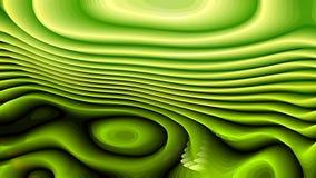 Las líneas curvadas verde oscuro del extracto 3d ondulan el fondo libre illustration