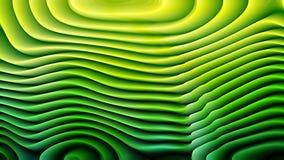 Las líneas curvadas verde oscuro del extracto 3d texturizan el fondo libre illustration