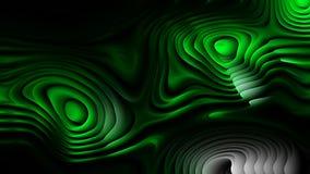Las líneas curvadas verdes frescas ondulan el fondo stock de ilustración