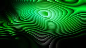 Las líneas curvadas verdes frescas ondulan el fondo libre illustration