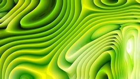 Las líneas curvadas verdes y amarillas ondulan textura libre illustration