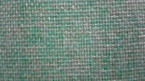 Las líneas de la tela texturizan, primer detallado textura de la tela de algodón almacen de metraje de vídeo