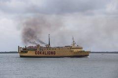Las líneas de navegación de Cokaliong son una línea de navegación basada en Cebú, Filipinas Imagen de archivo libre de regalías