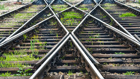 Las líneas ferroviarias Fotografía de archivo libre de regalías