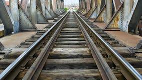 Las líneas ferroviarias Imágenes de archivo libres de regalías