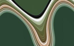 Las líneas plateadas verdes abstractas, líneas vivas de las ondas, ponen en contraste el fondo abstracto foto de archivo libre de regalías