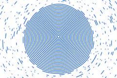 Las líneas resumen el modelo y la textura geométricos del círculo con moderno, ilustración del vector